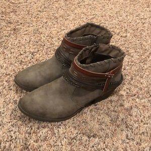 Gray Rustic Booties